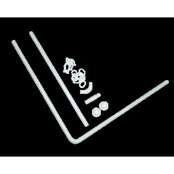 Карніз ODA для ванної кімнати ″Кутовий″ універсальний