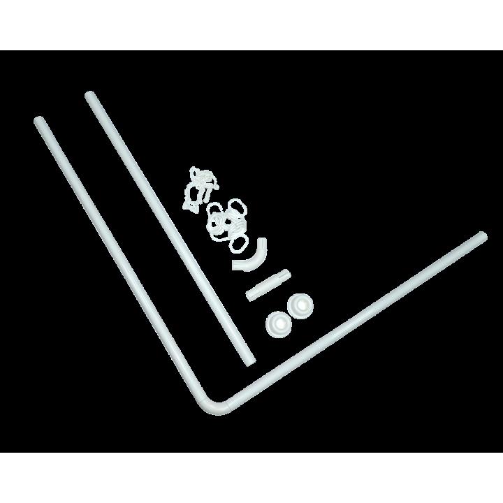 Карніз ODA для ванної кімнати ″Кутовий″ універсальний білий