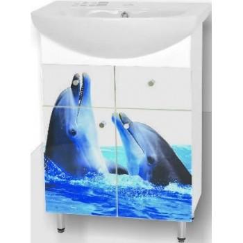 Умивальник з тумбою Лібра 60 дельфіни