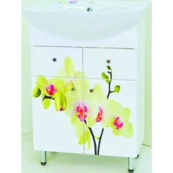 Умивальник з тумбою Лібра 60 орхідея світла